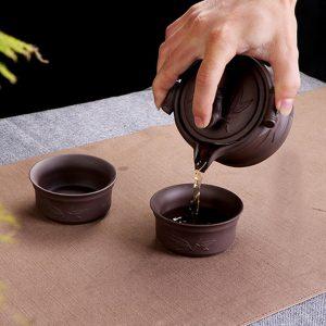 Tetera china de barro yixing morada