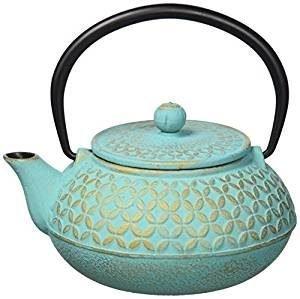 Tetera de Hierro Japonesa color turquesa